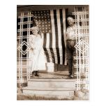 Cuarto del estilo del vintage de julio postales