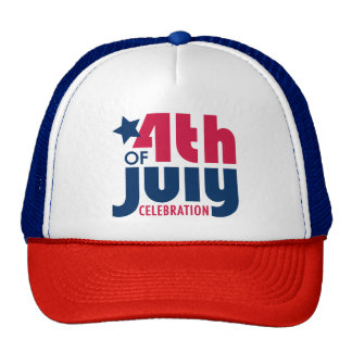 Cuarto del gorra del camionero de la celebración