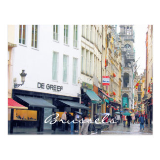 Cuarto del latín de la plaza del mercado de Brusel Tarjeta Postal