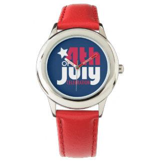 Cuarto del reloj de la celebración de julio