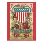 Cuarto del vintage 1909 de la postal de la celebra