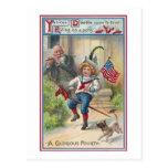 Cuarto del vintage del Doodle del yanqui de julio Tarjetas Postales