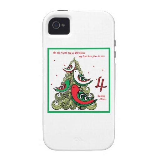 Cuarto día de navidad iPhone 4/4S funda