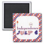 Cuarto el 4 de julio protagoniza independencia de  iman de frigorífico