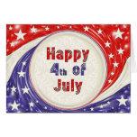 Cuarto feliz de julio tarjeta