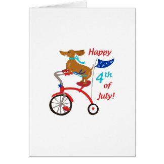 Cuarto feliz de julio tarjeta de felicitación