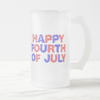 Cuarto feliz de julio taza