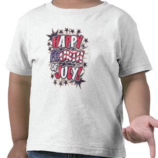 Cuarto feliz de la camiseta del niño de julio