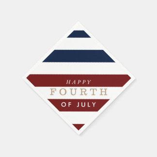 Cuarto feliz del Día de la Independencia del Servilletas Desechables