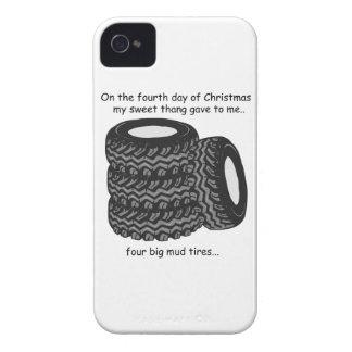 Cuarto navidad del campesino sureño del día funda para iPhone 4
