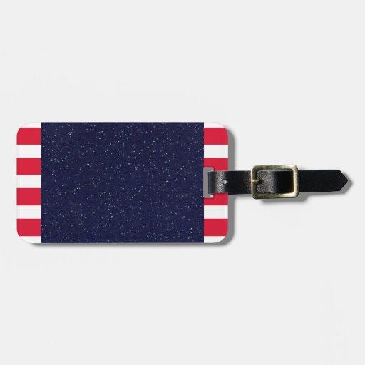 Cuarto patriótico de la bandera americana del etiquetas bolsa