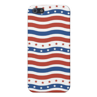 Cuarto patriótico de la bandera de la libertad de iPhone 5 funda