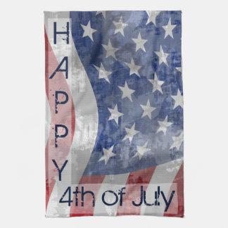 Cuarto patriótico de la toalla de cocina de julio