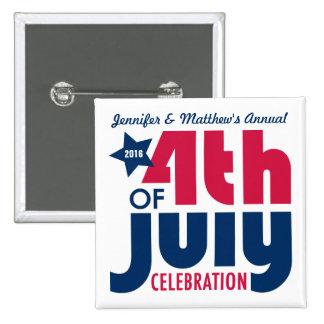 Cuarto personalizado del Pin de la celebración de