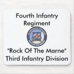 """Cuarto regimiento de infantería """"roca del Marne """" Alfombrillas De Ratón"""