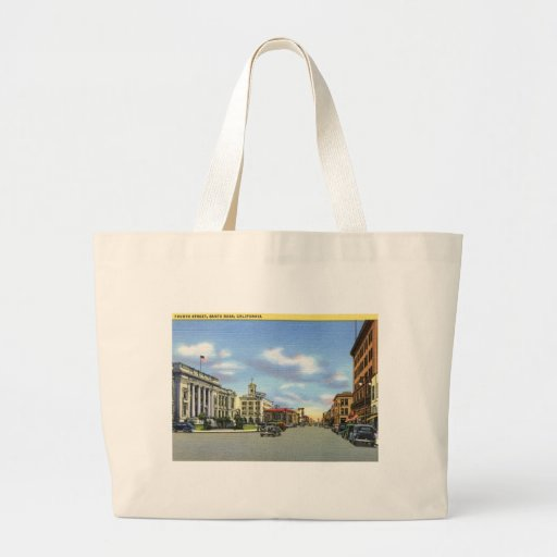 Cuarto St., vintage de Santa Rosa CA Bolsa Tela Grande