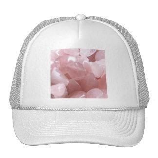 Cuartos de galón color de rosa de cristal rosado e gorro de camionero