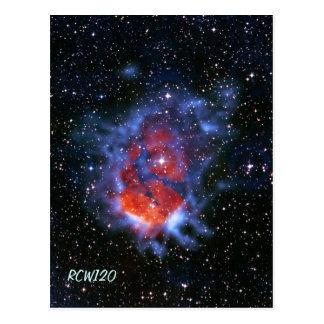 Cuartos de niños estelares RCW120, goma 58 Postal