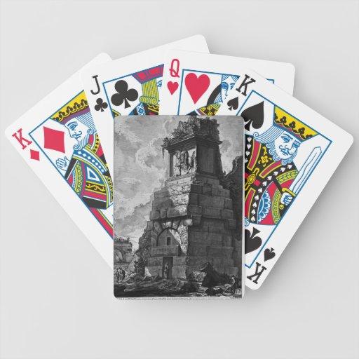 Cuartos del entierro de Juan Piranesi- de la famil Baraja Cartas De Poker