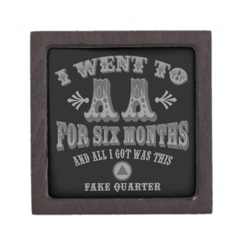 Cuartos falsos cajas de regalo de calidad