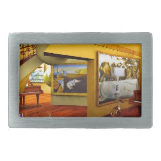 Cuartos frescos por el arte de Lenny Hebillas Cinturon Rectangulares
