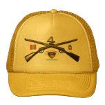 Cuartos rifles de la cruz del regimiento de infant gorro de camionero