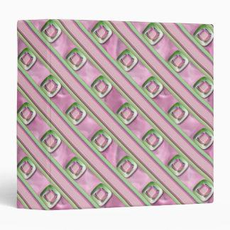 """Cuarzo Amethyst, color de rosa y esmeralda Carpeta 1 1/2"""""""