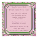 Cuarzo Amethyst, color de rosa y esmeralda Invitación 13,3 Cm X 13,3cm