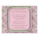 Cuarzo Amethyst, color de rosa y esmeralda Invitación 10,8 X 13,9 Cm