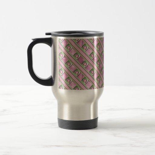 Cuarzo Amethyst, color de rosa y esmeralda Tazas De Café