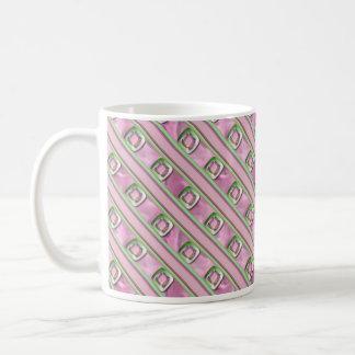 Cuarzo Amethyst, color de rosa y esmeralda Taza