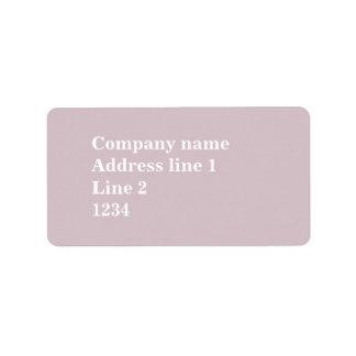 Cuarzo color de rosa etiqueta de dirección