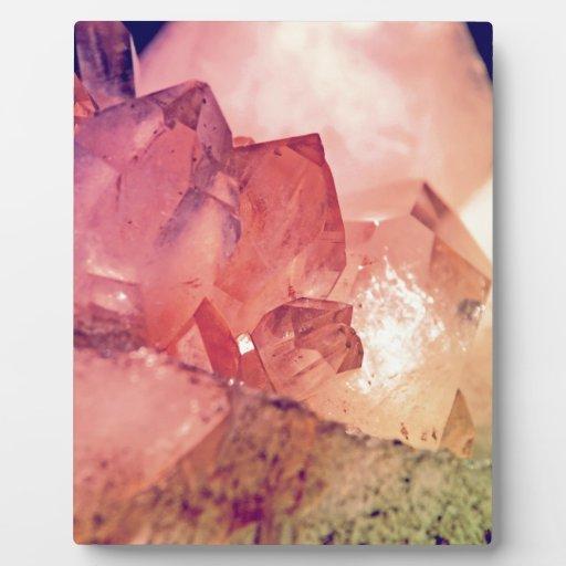 cuarzo color de rosa placas con fotos