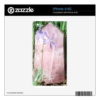 cuarzo color de rosa violeta skins para iPhone 4