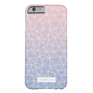 Cuarzo color de rosa y modelo geométrico de Ombre Funda Para iPhone 6 Barely There