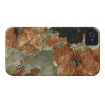 Cuarzo del naranja, negro y claro iPhone 4 Case-Mate carcasas