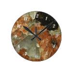 Cuarzo del naranja, negro y claro reloj