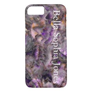 Cuarzo púrpura - con monograma funda iPhone 7