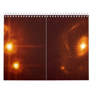 Cuasar sin la galaxia del anfitrión comparada con calendarios