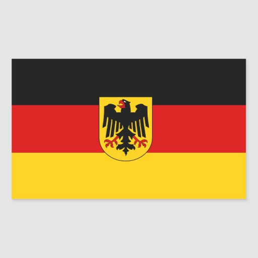 CUATRO Alemania tricolora con el escudo de armas Rectangular Altavoces