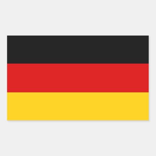 CUATRO Alemania tricolora Pegatina