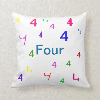 Cuatro almohada - almohada de tiro decorativa del