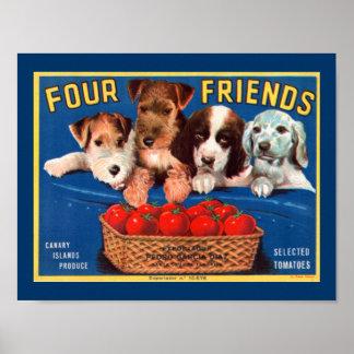 Cuatro amigos póster