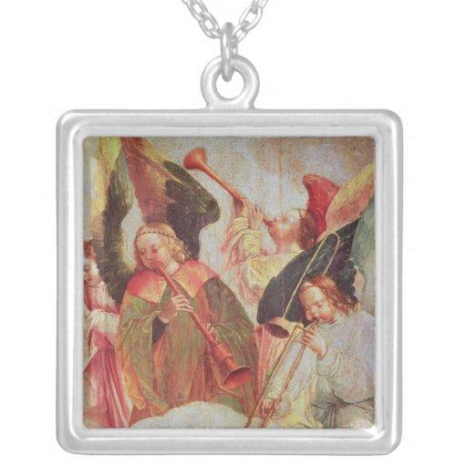 Cuatro ángeles que tocan los instrumentos colgantes personalizados