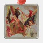 Cuatro ángeles que tocan los instrumentos ornaments para arbol de navidad