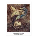 Cuatro ángeles y St Francis de Bencivieni Di Pepo Tarjetas Postales