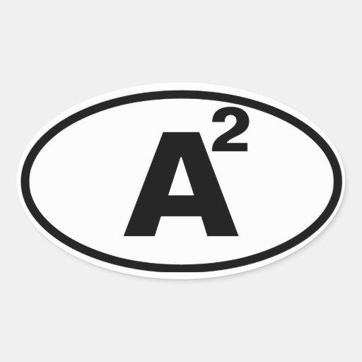 """CUATRO Ann Arbor, """"A"""" ajustada Calcomanía Oval Personalizadas"""