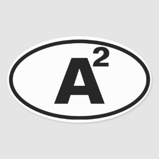 """CUATRO Ann Arbor, """"A"""" ajustada Pegatina Ovalada"""