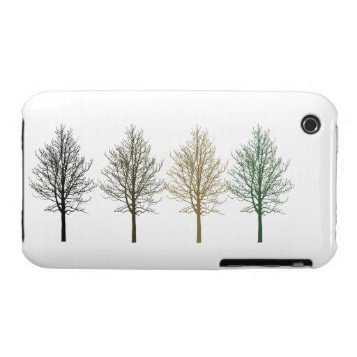 Cuatro árboles iPhone 3 carcasa