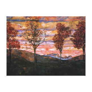 Cuatro árboles lona estirada galerías